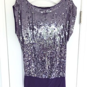 New Marciano Sequin purple festive top small tunic